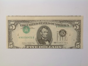 1988 $5 Inverted Overprint